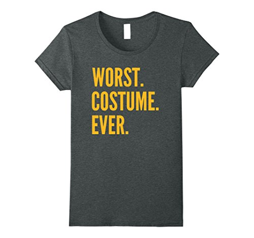 Unique Female Superhero Costume Ideas (Womens WORST COSTUME EVER Shirt Last Minute Costume Idea T-Shirt Medium Dark Heather)