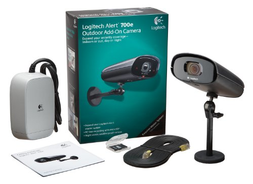 Logitech Alert 700e Outdoor Add-On HD Quality Security Camera with Night Vision (961-000338)