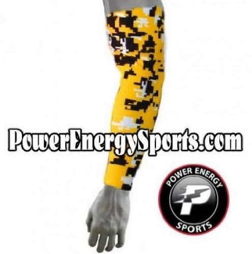 野球スポーツCompression Arm Sleeve – デジタル迷彩イエロー B00VY1OZOG  Small