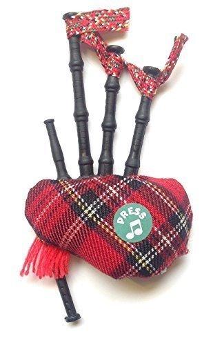 Scottish Gift - Tartan Musical Bagpipe Fridge Magnet Beeline