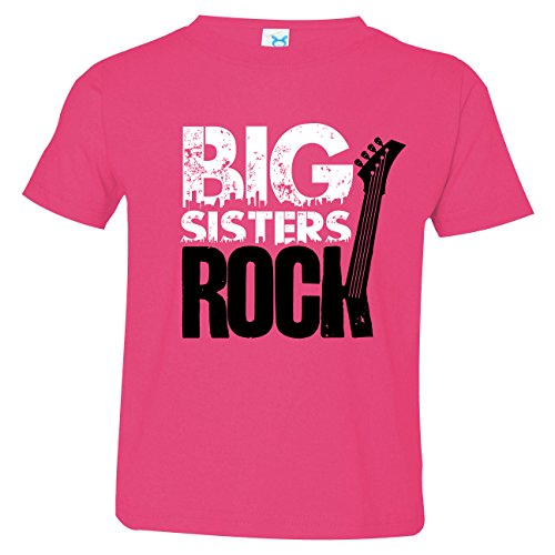 Rock Sisters Big (Nursery Decals and More Baby Girls Big Sister Shirt, Size 4, Big Sisters Rock)