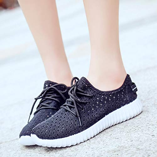Soles Women Running Black New Up Espadrilles Outdoor Sports Casual Comfortable Look Shoes Mesh Girls Lace Loafers 0n0rBqS