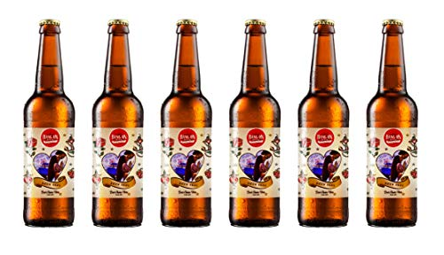Personalised Valentines Day Craft Lager. (Valentines gifts for him)