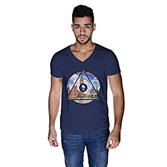 Creo London Telephone T-Shirt For Men - L, Navy Blue