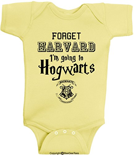 11727b46a69f Forget HARVARD I m going to Hogwarts Funny Harry Potter Baby Wizard Onesie  by BeeGeeTees