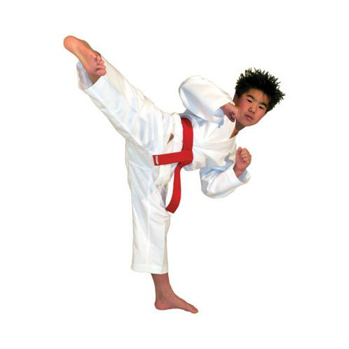Karate Kid Outfit - Tiger Claw Traditional Light Weight Karate Uniform - White - Size 1
