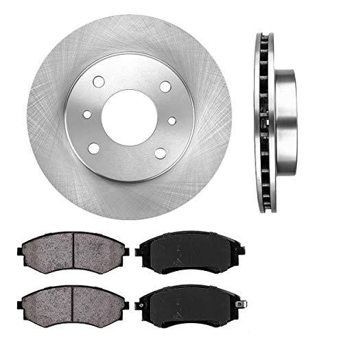 FRONT 257 mm Premium OE 4 Lug [2] Brake Disc Rotors + [4] Ceramic Brake ()