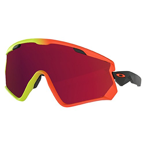 Oakley 2018 Wind Jacket 2.0 (Harmony Fade w/ Prizm Black Iridium) - Yellow And Oakleys Black