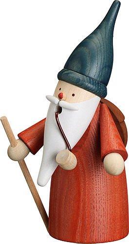 Seiffener Volkskunst German incense smoker wanderer gnome, height 16 cm / 6 inch, original Erzgebirge by (Seiffener Smoker Incense)