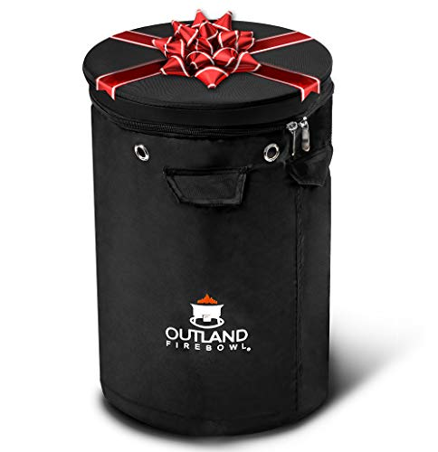Outland Firebowl UV and Weather Resistant 740 Propane Gas Tank Cover with Stable Tabletop Feature, Fits Standard 20 lb Tank Cylinder, Ventilated with Storage Pocket (Patio Stainless Steel Tabletop Sun Heater Garden Propane)