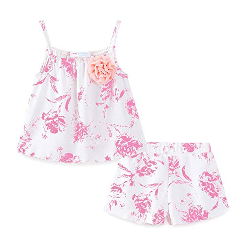Mud Kingdom Cute Toddler Girl Outfits Pink Floral Summer Holiday 4T -