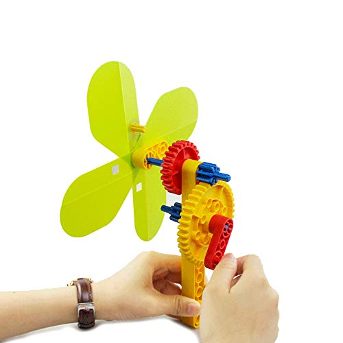 BOHS Hand Fan Mechanical Gear Building Blocks,STEM Science Educational Physics Toys, for 3-6 Years Old Kids