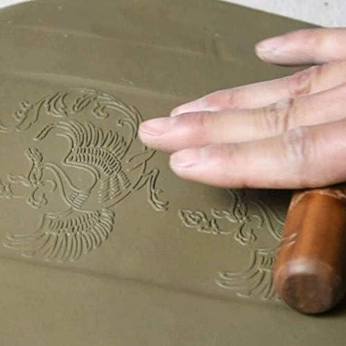 Lzttyee 木製ハンドルクレイモデリングパターンローラーキット 陶器ツールセット アソートパターン