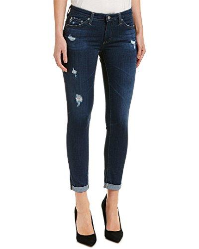 Stilt Cigarette (AG Adriano Goldschmied Ag Jeans Womens The Stilt 4 Years Medium Wash Cigarette Roll-up Leg, 30, Blue)