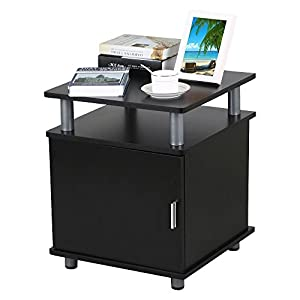 Amazon Com Black End Tables Bedroom Nightstands Bedside