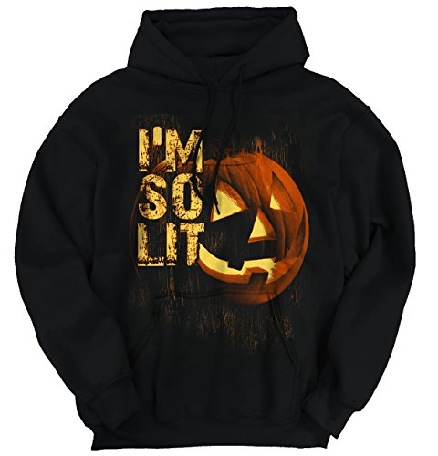 Funny Halloween Hooded Sweatshirt Im So Lit Party Smoke Drink Costume (Zombie Dress Up Ideas)