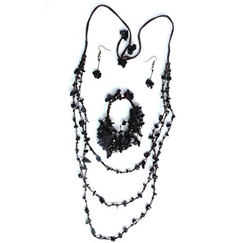 thai-village-multi-strand-quartz-rock-candy-macrame-36-adjustable-necklace-bracelet-and-earrings-set