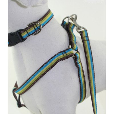 "Dublin Stripe Dog Harness Size: .375"" Teacup"