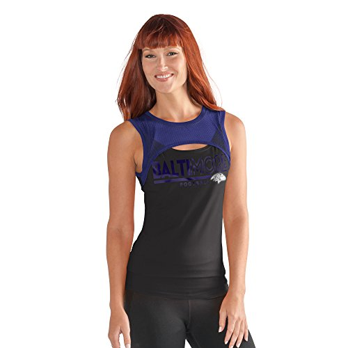 GIII For Her NFL Baltimore Ravens Women's Power Up! Tank, XX-Large, Black