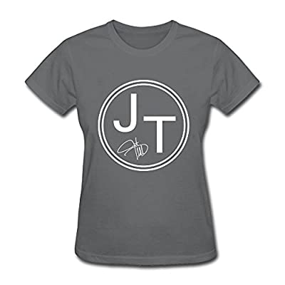 AzonLD Women's Justin Timberlake JT Logo Short T-shirt