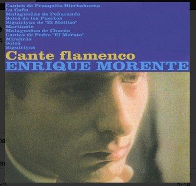 Enrique Morente – Cante Flamenco LP Hispavox
