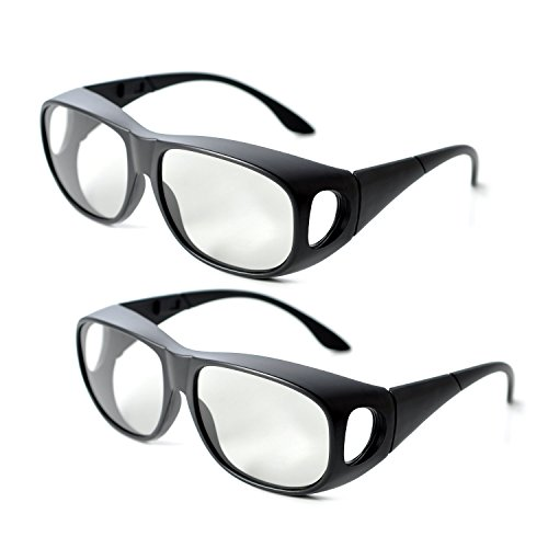 2Pair IMAX Passive Extra Large Lens 3D Glasses Eyewear for Cinema (Wireless 3d Glasses)