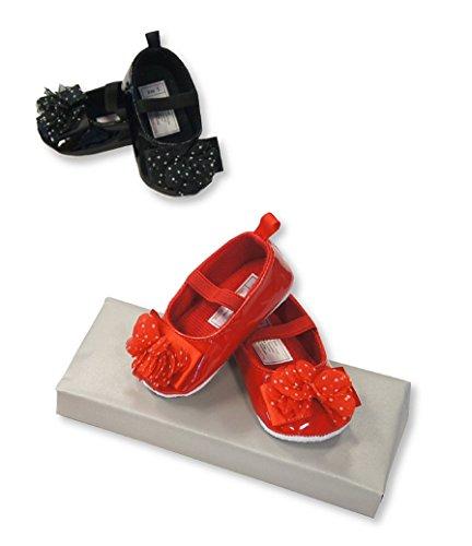 Bebé niñas zapatos de ocasión rojo rosso Talla:6/12 Months rosso