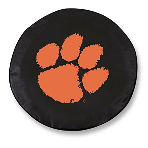 Clemson Tigers HBS Black Vinyl Fitted Spare Car Tire Cover (31 1/4
