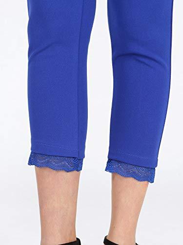 SOLADA sul capri Pantaloni finale con pizzo Blu qwqWcfr1CH