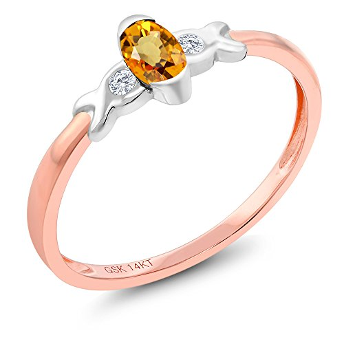 Gold Two Sapphire 14k Tone (14K Two Tone Gold 0.28 Ct Yellow Sapphire and Diamond Engagement Ring)