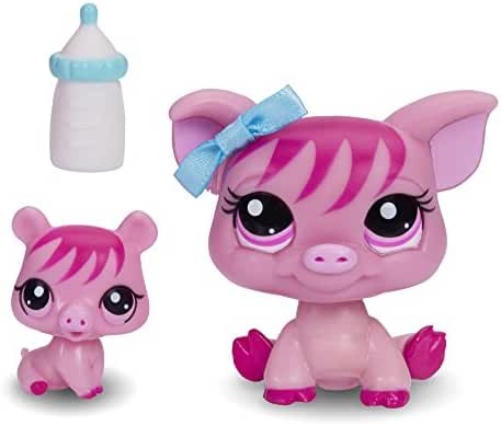 Littlest Pet Shop Figures Pig and Baby Pig