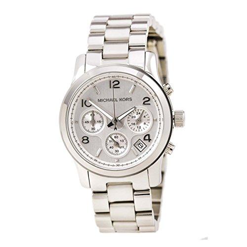 Michael Kors Mk5076 Ladies Sport Chronograph Silver Dial Stainless Steel - Michael Uk Kors In The