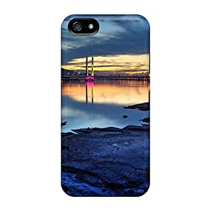 New Arrival Cases Covers With MpI17498aLcf Design For Iphone 5/5s- Beautiful Lit Bridge