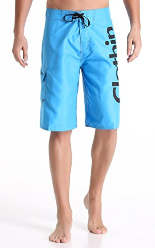 Clothin Quick Drying Surfing Water Sports Swimwear Men Boardshorts Blue US 40