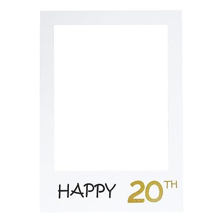 LUOEM Marco de fotos para fotos de 20 cumpleaños ...
