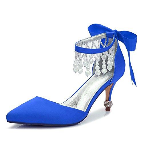 De Para F17767 yc Boda Noche Tacón Otoño Alto 18 Mujer Primavera Vestido Y  Blue L Colgante Plataforma Zapatos Satinado EYFnqIxgg 80510386600f