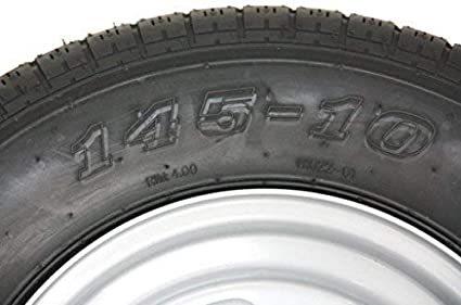 Rad 145//80R10 Anh/ängerrad Komplettrad 145R10 145//10 LK 100x4 Felge 3,50x10 145 10