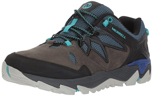 Merrell Women's All Out Blaze 2 Hiking Shoe, Pewter/Mazarine Blue, 9 M US by Merrell