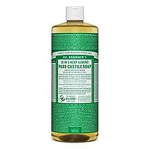 Dr. Bronner's Magic Soap Organic Almond Oil Pure Castile Soap Liquid, 32-Ounce