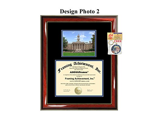 (Penn State University Diploma Frame PSU Pennsylvania State University Graduation Degree Bachelor Master PhD Doctorate School Double Mat Holder Case)