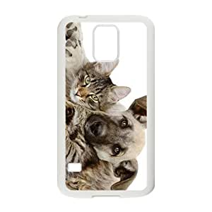 Dog And Cat Hight Quality Plastic Case for Samsung Galaxy S5 by icecream design