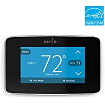 Emerson Sensi Touch Wi-Fi Thermostat with Touchscreen Color Display, Black, Energy Star Certified -