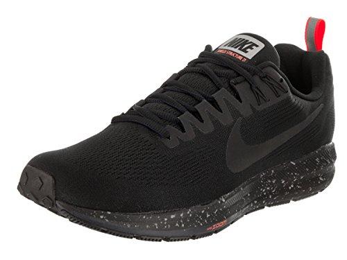 Nike Air Zoom Structure 21 Shield Herren Laufschuhe Running Schuhe - 907324-001 DARK GREY/WHITE-BLACK-PURE PLA