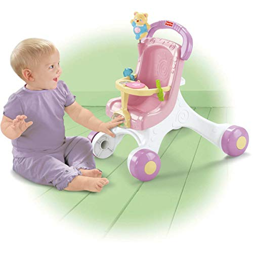 411dWG9wpcL - Fisher-Price Brilliant Basics Stroll-Along Walker