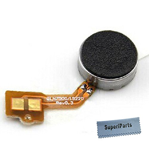 SuperiParts Vibration Motor Vibrator Flex Cable Ribbon Replacement Repair Spare Part for Samsung Galaxy Note 1 +SuperiParts Cloth