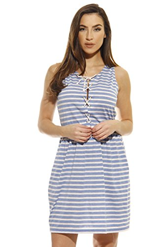Just-Love-Cinch-Waist-Lace-Up-Casual-Short-Dress-Summer-Dresses