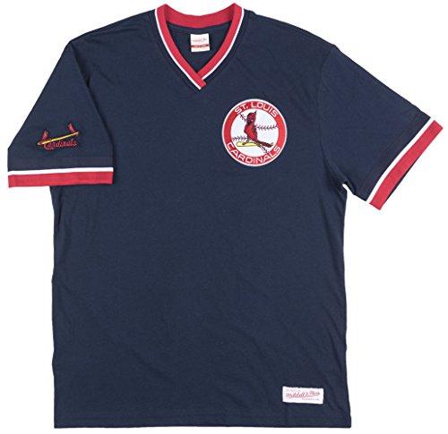 St. Louis Cardinals MLB Men's Overtime Win Vintage V-Neck T-Shirt (Large) (Championship Vintage T-shirt)