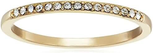 Sterling Silver White Swarovski Crystal Ring