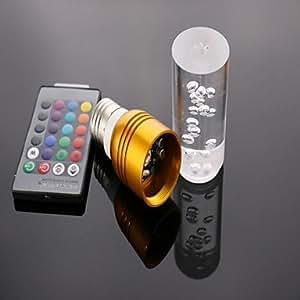 xuexin E26/E27LED Spotlight T 1LED de alta potencia 300lm RGB Control remoto AC 85–265V