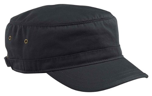 Navy Fleece Beanie - econscious SWEET-250 100% Organic Cotton Twill Adjustable Corps Hat, Black